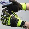 Перчатки предохранения от руки нитрила покрытые ударопрочные TPR Nmsafety