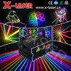 Mini mostra nova da luz do estágio da cerimónia do disco do DJ do laser da animação da cor cheia de 2.5W RGB