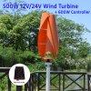 500W 12V/24V/48V вертикальный спираль ветровой турбины для домашнего использования
