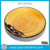 Plat en céramique de râpe de jaune d'innovations de cuisiniers