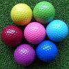 Venda por grosso de cor personalizada bolas de golfe