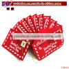 Ornamento de la Navidad del bordado del sobre del fieltro del rojo de la decoración del día de fiesta (CH8126)