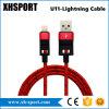 Cable de datos trenzado de nylon de Sync&Charger del relámpago del USB para el iPhone