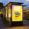 Défilement Lightbox-Rolling Mupis- Rotation de l'affichage sur l'abri de bus