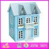 Brinquedo de madeira da casa de boneca de 2014 cabritos novos, casa de boneca de madeira das crianças populares, brinquedos quentes do bebê da venda, brinquedos W06A038 das crianças da alta qualidade