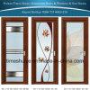 Дверь ванной комнаты нового прибытия алюминиевая с двойной застеклять и новый цветом