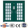 二重フランスの外部の機密保護の鋼鉄ガラスドア(W-GD-28)