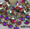 5A nieuwe Facted 8 de Grote 8 Kleine Ss20 4.85.0mm Lijm van de Kunst van de Spijker van het Kristal Ab op niet Bergkristallen Hotfix (fb-SS20 kristal ab/5A)