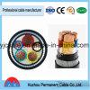 cordon blindé de câble d'alimentation de PVC de la SWA Sta de câble d'alimentation d'en cuivre d'isolation de PVC 600/1000V