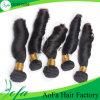中国からの高品質のばねのカールのバージンのインドの人間の毛髪