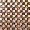 """1X1"""" Mosaico Mosaico de vidro castanho com Metal Rose"""