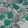 Il modo Tulle multicolore decorativa pianta il tessuto del merletto del ricamo