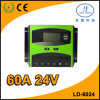 60A 24V PWM LCD Bildschirmanzeige-intelligenter Batterie-Ladung-Solarcontroller