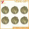 Изготовленный на заказ античное бронзовое медаль металла с логосом