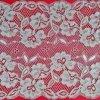 Cordón nupcial floral de teñido del recorte de la tela del cordón