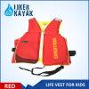 2016 Nova Vida de PVC com espessura de segurança de crianças Jacket colete de desportos aquáticos, Kids colete de vida