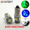 Lampadine eccellenti del cruscotto 5SMD di bianco Ba9s T4w 5050 delle lampadine automatiche del LED
