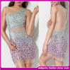 Robe de Bodycon de 2015 cristaux de dames de bonne qualité pleine/robe de soirée sexy brillante