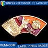 Pin значка сплава цинка с муфтой бабочки металла