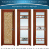 Salle de bains/tissu pour rideaux/toilette en aluminium/en aluminium/porte articulée avec la glace de fleur de glace