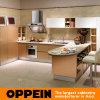 Oppein Gold Acrylic L-Shape Luxury Kitchen Cabinet (OP14-108)
