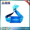 La seguridad de Maximizse y previene el Wristband tejido las falsificaciones de RFID para el acontecimiento