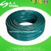 Boyau tressé de l'eau de jardin de PVC de fibre de couleur verte
