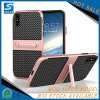 Fibra del carbonio con la cassa del telefono delle cellule di Stander per Samsung S7