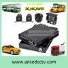 4 véhicule de carte SD de la Manche HD 1080P DVR mobile avec le rail de 3G 4G GPS