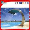 Fonte curvada interna da piscina do aço inoxidável