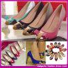 Venda 2015 quente! O Fashion o mais novo Canvas e o Light Skin Fabric High Heel Women Shoes (C-116)