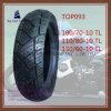 Zonder binnenband, Super Kwaliteit, Band Met lange levensuur van de Motorfiets van ISO de Nylon 6pr met Grootte: 110/70-10tl, 110/80-10tl, 130/60-10tl