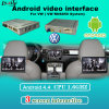 Interface de vídeo multimédia do monitor-de-cabeça para a VW Golf 7 com o Android Navigaiton recursos Bluetooth, WiFi, a BT
