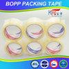 Cinta del paquete plano BOPP de Hongsu para el lacre del cartón
