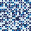 De elegante Tegel van het Mozaïek van de Stijl Vierkante met Ceramische de Ritselen van het Glas & van het Ijs