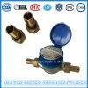 Bronze seca de jacto único medidor de água do tipo de discagem de 1/2-3/4