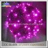 Luzes feericamente da esfera do diodo emissor de luz da cor da cor-de-rosa do Natal IP65