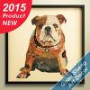 3D Handmade Bulldog Animal pintura al óleo para la decoración de la pared