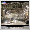 Luz ao ar livre do feriado da rua da decoração das skylines da estrela do diodo emissor de luz do Natal