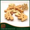 Botones de madera naturales Botones de madera naturales al por mayor Botón de madera a granel