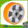 Gelbes PU-Aluminiumkern-Rad für industrielle Fußrolle
