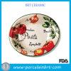 Ciotola su ordine del piatto di ceramica dell'inserimento