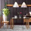 Conjunto de mesa de jantar de design novo de vidro