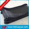 De zwarte Vlakke Transportband van het Canvas Polyester/Nylon met Zijwand