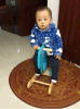 Rocking Horse en bois- Dinosaur/bébé jouet