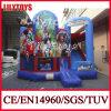 Heet verkoop het Blauwe Huis van de Uitsmijters van het Geteerde zeildoek van pvc van de Kleur Materiële Opblaasbare voor Partij (j-BC-021)