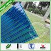 folha de Sun da folha do policarbonato da Gêmeo-Parede da cavidade do telhado do plástico de 8mm