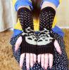 Перчатки шерстей зимы симпатичные связанные
