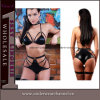 Club Wear Vinyl Leather Women Sexy Bra Underwear Set (4259)