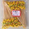 自然で黄色いカラーフルーツのビーズの棒の&Decorativeタケ棒